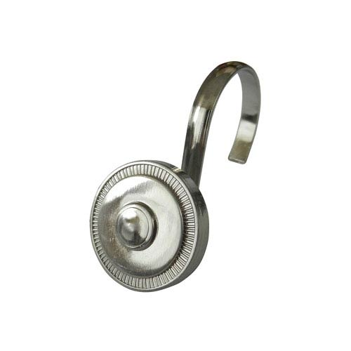 Brushed Nickel Shield Shower Hooks