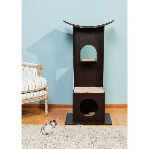 Cat Tree Box with Toy Rack