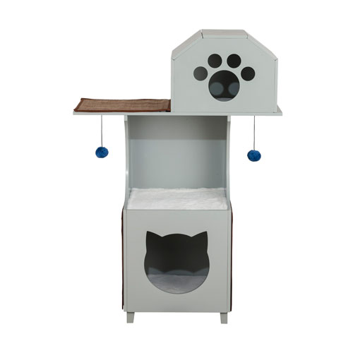 Grey Cat Box Tower