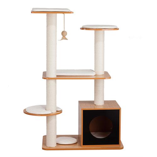 Black Natural Cat Post Tower Box