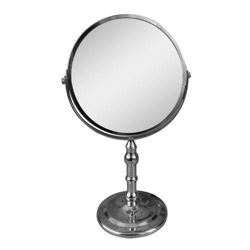 Chrome Vintage Freestanding Bath Magnifying Makeup Mirror