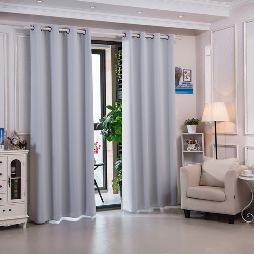 96-Inch Corinth Premium Solid Insulated Thermal Blackout Grommet Window Panels, Cloud Grey