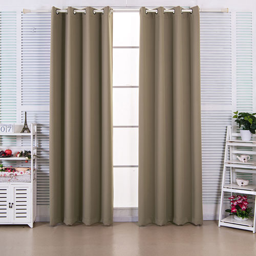 Elegant Home Fashions 63-Inch Ephesus Premium Solid Insulated Thermal Blackout Grommet Window Panels, Sepia Brown