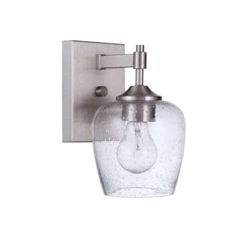 Stellen Brushed Polished Nickel One-Light Wall Sconce