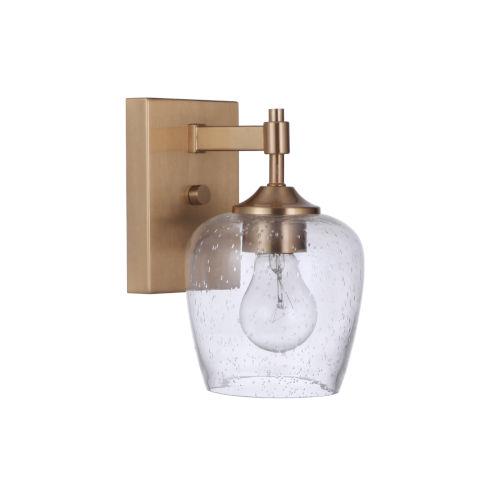 Stellen Satin Brass One-Light Wall Sconce