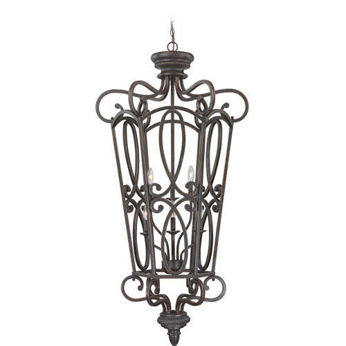 Highland Place Mocha Bronze 28-Inch Six-Light Chandelier