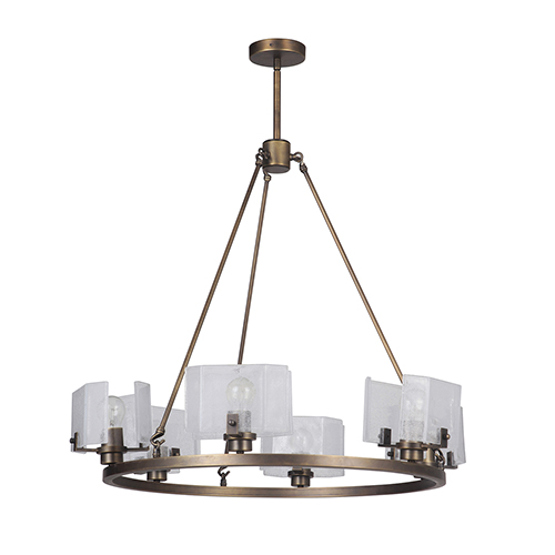Trouvaille Polished Nickel Six-Light Chandelier