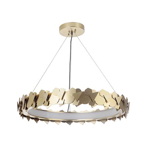 Bangle Satin Brass LED Pendant