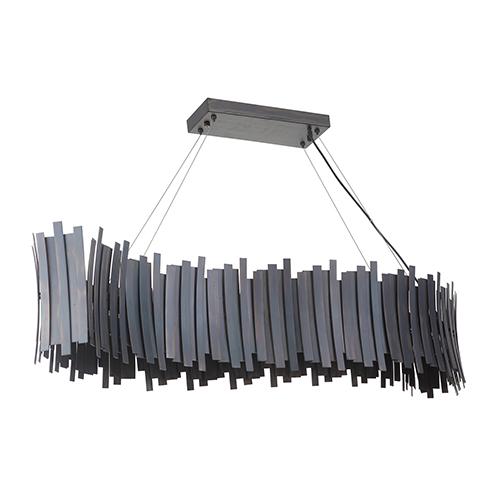 Bastion Fired Steel LED Island Pendant