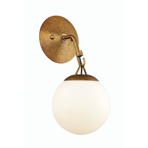 Orion Patina Aged Brass 6-Inch One-Light Wall Sconce