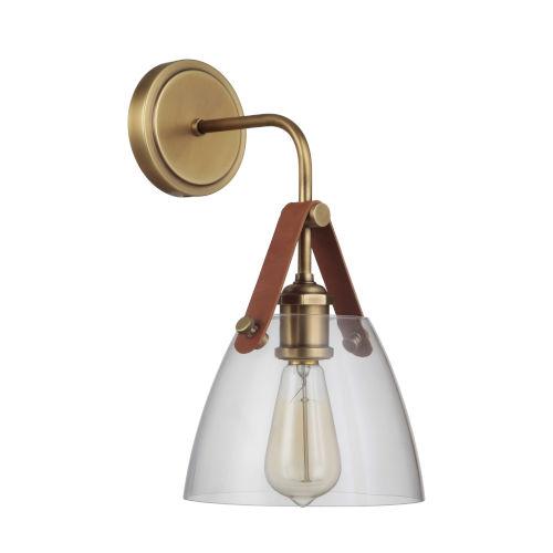 Hagen Vintage Brass One-Light Wall Sconce