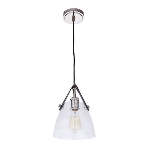 Hagen Polished Nickel One-Light Mini Pendant