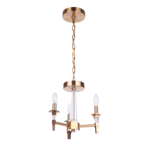 Tarryn Satin Brass Three-Light Convertible Semi Flush