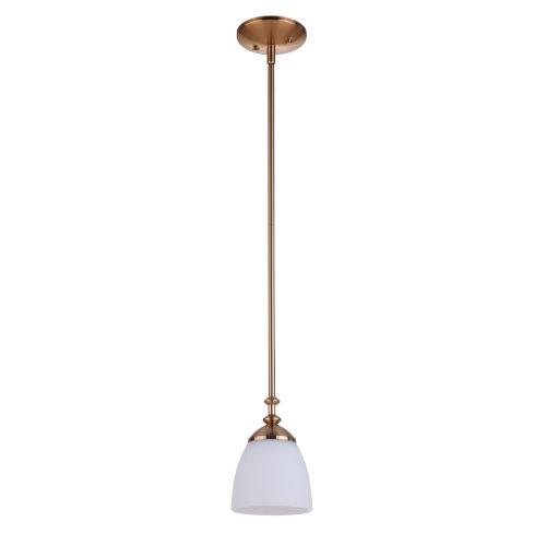 Marlowe Satin Brass One-Light Mini Pendant