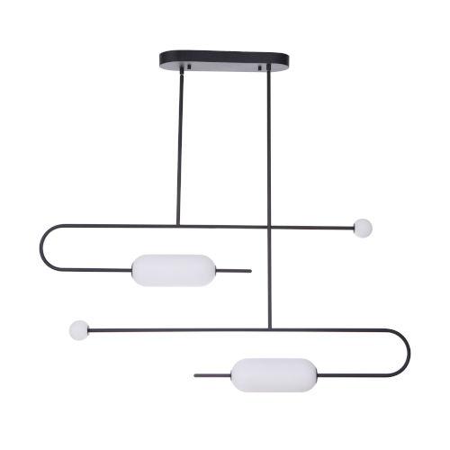 Tuli Flat Black 20-Inch LED Pendant