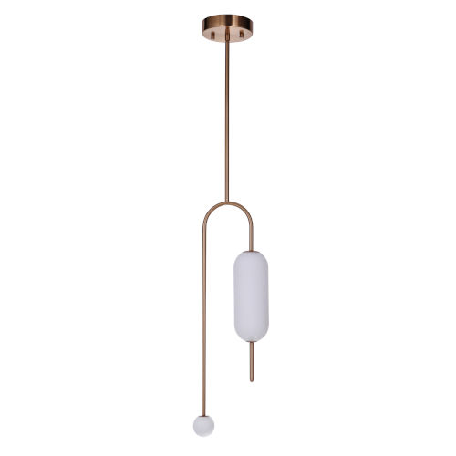 Tuli Satin Brass 5-Inch LED Mini Pendant