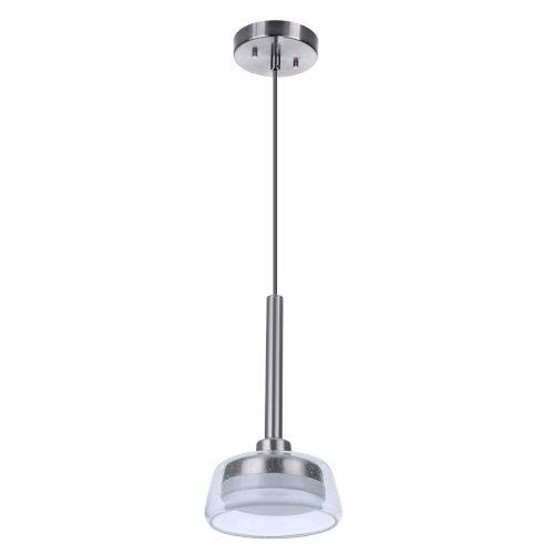 Centric Brushed Polished Nickel LED Mini Pendant
