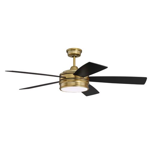 Braxton Satin Brass Led 52-Inch Ceiling Fan