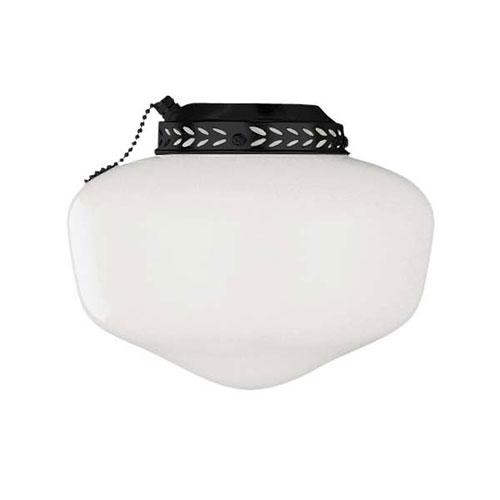 Universal Bowl Matte Black One-Light Fan Light Kit