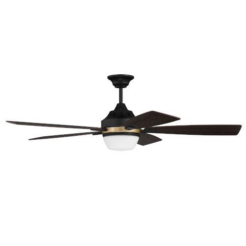 Fresco Flat Black Satin Brass 52-Inch LED Ceiling Fan