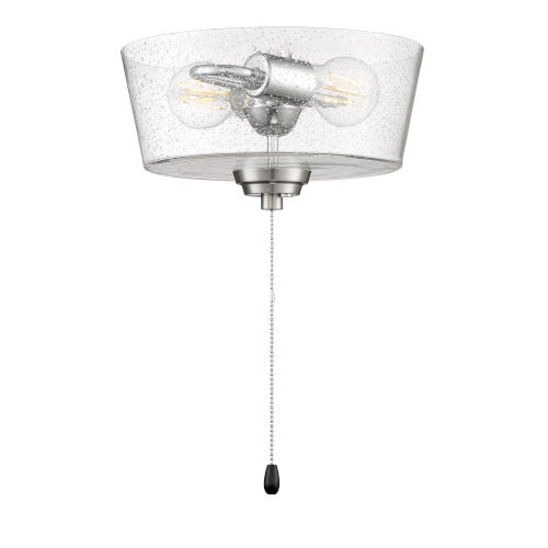 Brushed Polished Nickel 11-Inch LED Fan Light Kit