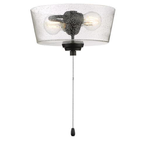 Flat Black 11-Inch LED Fan Light Kit