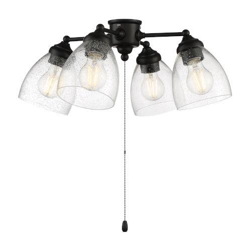 Flat Black 20-Inch LED Fan Light Kit