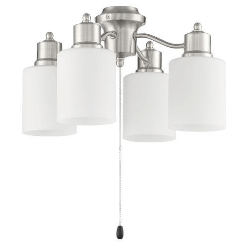 Brushed Polished Nickel Four-Light Fan Light Kit
