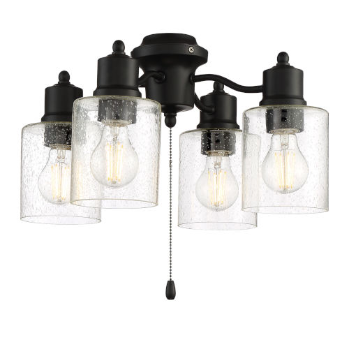 Flat Black 17-Inch LED Fan Light Kit