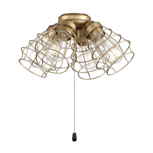 Satin Brass 16-Inch LED Fan Light Kit
