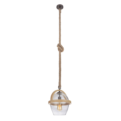Nordic Bronze 11-Inch One-Light Pendant with Cord