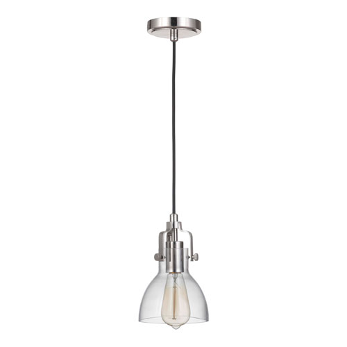 State House Polished Nickel 6-Inch One-Light Mini Pendant