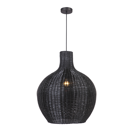 Matte Black One-Light Pendant