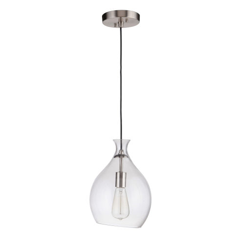 Brushed Polished Nickel One-Light Mini Pendant
