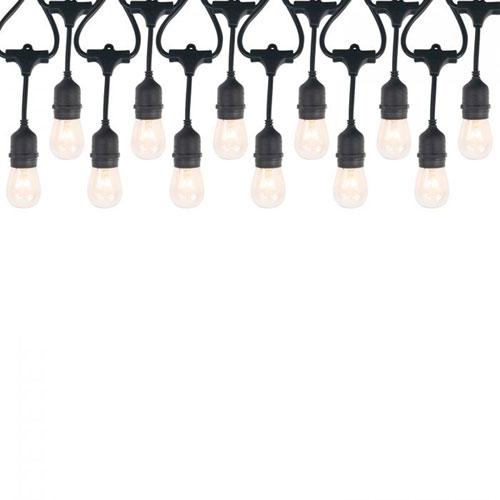 Black 12-Light Incadescent String Light