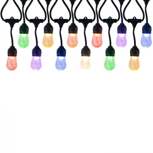 Black 12-Light RGB LED String Light