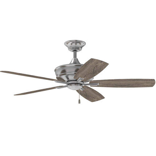 Sloan Brushed Polished Nickel 56-Inch Ceiling Fan