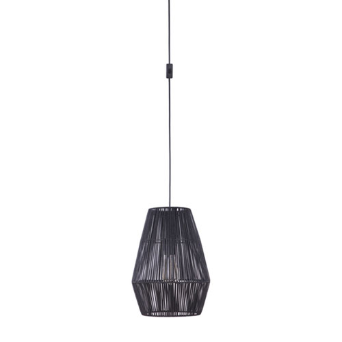 Swag Flat Black One-Light Pendant