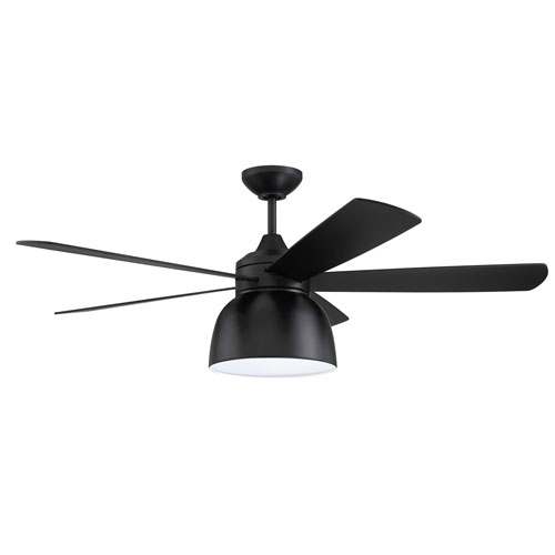 Ventura Flat Black Led 52-Inch Ceiling Fan