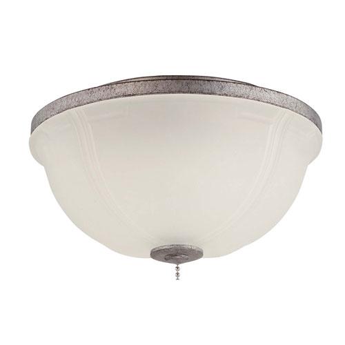 Elegance Bowl Tarnished Silver Led Fan Light Kit