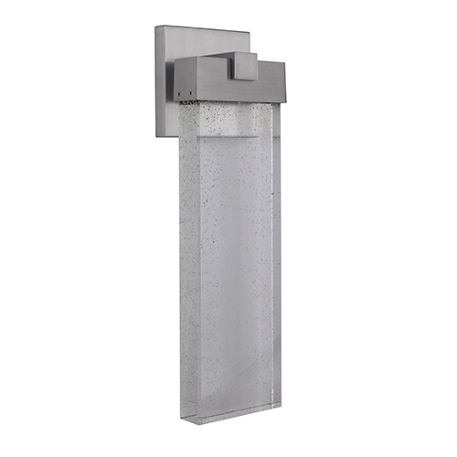 Aria Satin Aluminum Five-Inch LED Outdoor Wall Lantern