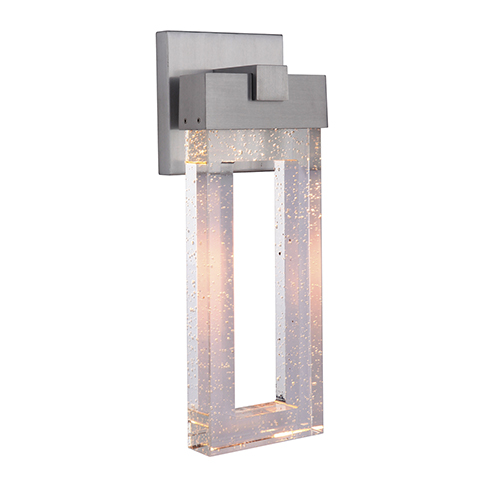 Cantrell Satin Aluminum Seven-Inch LED Outdoor Wall Lantern