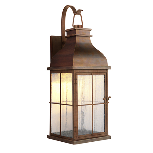Vincent Weathered Copper LED Outdoor Wall Lantern