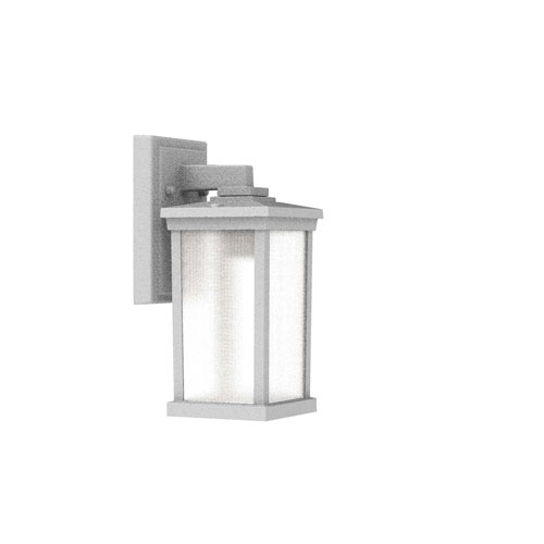 Textured White One-Light Outdoor Wall Sconce