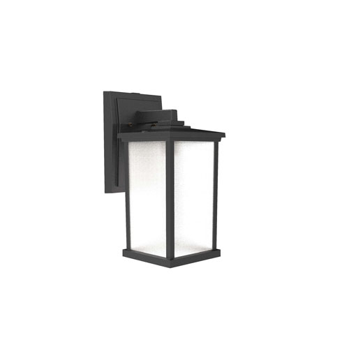 Textured Matte Black One-Light Outdoor Wall Sconce