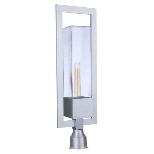 Perimeter Satin Aluminum One-Light Post Mount