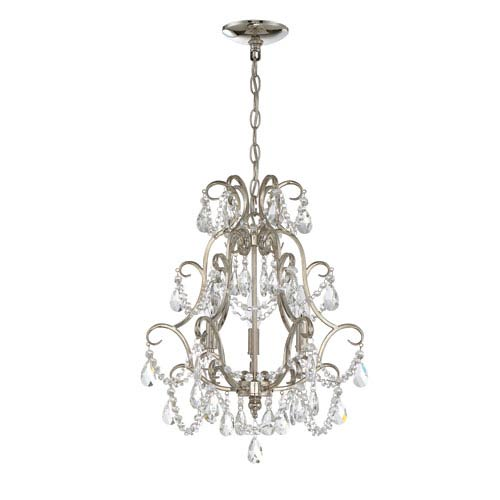 Polished Nickel Three-Light Chandelier