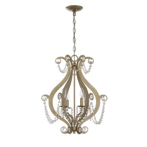 Craftmade Gold Twilight Four-Light Chandelier
