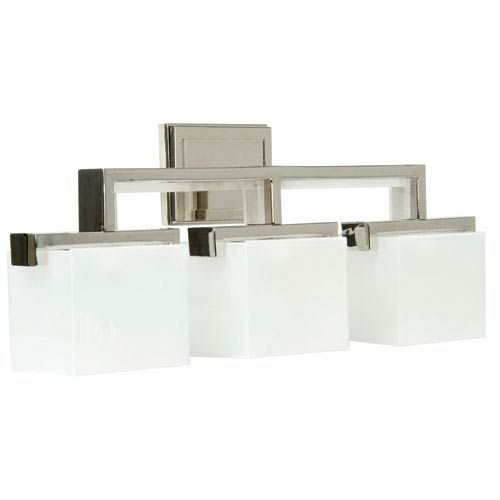 Craftmade Kade Polished Nickel Three-Light Bath Fixture with Frosted Glass