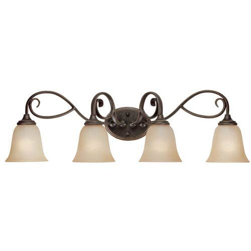 Craftmade Barret Place Mocha Bronze Four Light Vanity